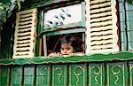 Portrait of Toddler in Gypsy Caravan, Sussex, England    Stock Photo - Premium Rights-Managed, Artist: Matt Brasier, Code: 700-01120617