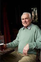 Portrait of Man in Pub    Stock Photo - Premium Royalty-Freenull, Code: 600-01123767