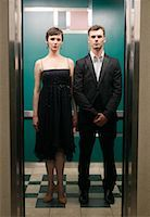 Portrait of Couple in Elevator    Stock Photo - Premium Royalty-Freenull, Code: 600-01124202