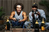 Friends Playing Video Game    Stock Photo - Premium Royalty-Freenull, Code: 600-01124700