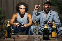 Friends Playing Video Game    Stock Photo - Premium Royalty-Freenull, Code: 600-01124701
