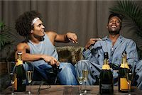 Friends Playing Video Game    Stock Photo - Premium Royalty-Freenull, Code: 600-01124702