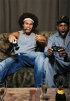 Friends Playing Video Game    Stock Photo - Premium Royalty-Freenull, Code: 600-01124704