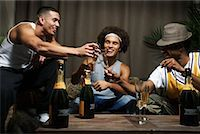 Friends Toasting with Champagne Glasses    Stock Photo - Premium Royalty-Freenull, Code: 600-01124709