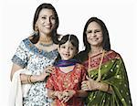 Portrait of a senior woman with her daughter and granddaughter Stock Photo - Premium Royalty-Free, Artist: Photosindia, Code: 630-01128666