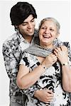 Close-up of a young man with his grandmother Stock Photo - Premium Royalty-Free, Artist: Siephoto, Code: 630-01131163