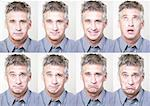 Mature man, eight portraits Stock Photo - Premium Royalty-Free, Artist: Visuals Unlimited, Code: 632-01144197