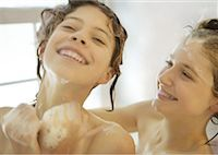 preteen shower pic - Two preteen girls in shower, laughing Stock Photo - Premium Royalty-Freenull, Code: 632-01156728