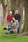 Multigenerational Family Portrait Outdoors    Stock Photo - Premium Rights-Managed, Artist: Rommel, Code: 700-01163365