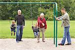 Multigenerational Family in Playground    Stock Photo - Premium Rights-Managed, Artist: Rommel, Code: 700-01163366