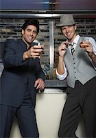 Portrait of Men at a Bar    Stock Photo - Premium Royalty-Freenull, Code: 600-01163424