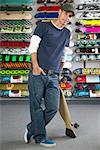 Portrait of Skateboard Shop Owner    Stock Photo - Premium Royalty-Free, Artist: Masterfile, Code: 600-01164270