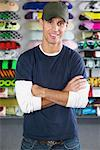 Portrait of Skateboard Shop Owner    Stock Photo - Premium Royalty-Free, Artist: Masterfile, Code: 600-01164271