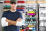 Portrait of Skateboard Shop Owner    Stock Photo - Premium Royalty-Free, Artist: Masterfile, Code: 600-01164272