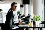 Businesswoman With Laptop Computer    Stock Photo - Premium Rights-Managed, Artist: David Zuber, Code: 700-01164574