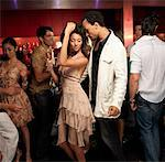 Friends Dancing in Bar    Stock Photo - Premium Rights-Managed, Artist: Mark Leibowitz, Code: 700-01164986