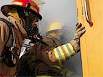 Firefighters Entering Building    Stock Photo - Premium Royalty-Free, Artist: Masterfile, Code: 600-01172187