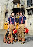 Portrait of Firefighters    Stock Photo - Premium Royalty-Free, Artist: Masterfile, Code: 600-01172228