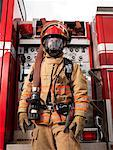 Fireman Pulling Fire Hose from Fire Truck    Stock Photo - Premium Royalty-Free, Artist: Masterfile, Code: 600-01172247