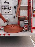 Back of Fire Truck    Stock Photo - Premium Royalty-Free, Artist: Masterfile, Code: 600-01172302