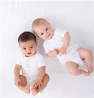 Portrait of Two Babies    Stock Photo - Premium Royalty-Freenull, Code: 600-01172773
