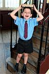 Child with Books in Schoolhouse    Stock Photo - Premium Rights-Managed, Artist: Marden Smith, Code: 700-01173183