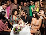 Friends Celebrating Birthday    Stock Photo - Premium Rights-Managed, Artist: Mark Leibowitz, Code: 700-01173366