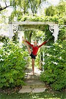 preteens girls spandex - Girl Doing Gymnastics Outdoors    Stock Photo - Premium Royalty-Freenull, Code: 600-01173698