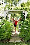 Girl Doing Gymnastics Outdoors    Stock Photo - Premium Royalty-Free, Artist: Masterfile, Code: 600-01173698
