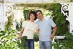Portrait of Couple in Garden    Stock Photo - Premium Royalty-Free, Artist: Masterfile, Code: 600-01173702