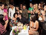 Friends Celebrating Birthday    Stock Photo - Premium Rights-Managed, Artist: Mark Leibowitz, Code: 700-01173789