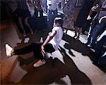 People in Dance Club Watching Man Break Dance    Stock Photo - Premium Rights-Managed, Artist: Mark Leibowitz, Code: 700-01173791
