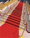Red Carpet on Staircase    Stock Photo - Premium Rights-Managed, Artist: Guy Grenier, Code: 700-01173802