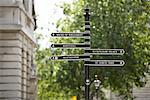 Signpost, London, England    Stock Photo - Premium Rights-Managed, Artist: Kevin Arnold, Code: 700-01183496