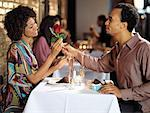 Couple in Restaurant    Stock Photo - Premium Rights-Managed, Artist: Mark Leibowitz, Code: 700-01183562