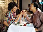 Couple in Restaurant    Stock Photo - Premium Rights-Managed, Artist: Mark Leibowitz, Code: 700-01183564