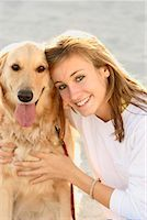 Portrait of Girl with Dog    Stock Photo - Premium Rights-Managednull, Code: 700-01183754