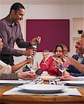 People at Birthday Dinner Party    Stock Photo - Premium Rights-Managed, Artist: Masterfile, Code: 700-01183903