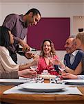 People at Birthday Dinner Party    Stock Photo - Premium Rights-Managed, Artist: Masterfile, Code: 700-01183904