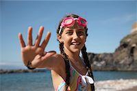 preteen swimsuit - Portrait of Girl    Stock Photo - Premium Rights-Managednull, Code: 700-01183962