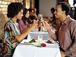 Couple at Restaurant    Stock Photo - Premium Rights-Managed, Artist: Mark Leibowitz, Code: 700-01184426