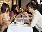 Couple at Restaurant    Stock Photo - Premium Rights-Managed, Artist: Mark Leibowitz, Code: 700-01184428