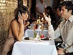 Couple at Restaurant    Stock Photo - Premium Rights-Managed, Artist: Mark Leibowitz, Code: 700-01184429