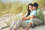 Couple at Beach    Stock Photo - Premium Rights-Managed, Artist: Marc Vaughn, Code: 700-01184758