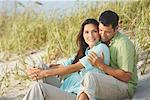 Couple at Beach    Stock Photo - Premium Rights-Managed, Artist: Marc Vaughn, Code: 700-01184760
