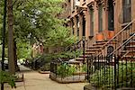 Brownstones, Brooklyn, New York, USA