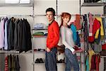Portrait of Couple in Front of Closet    Stock Photo - Premium Rights-Managed, Artist: Masterfile, Code: 700-01185163