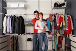 Portrait of Couple in Front of Closet    Stock Photo - Premium Rights-Managed, Artist: Masterfile, Code: 700-01185164