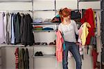 Woman deciding what to Wear    Stock Photo - Premium Rights-Managed, Artist: Masterfile, Code: 700-01185166