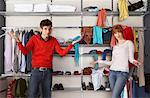 Portrait of Couple in Front of Closet    Stock Photo - Premium Rights-Managed, Artist: Masterfile, Code: 700-01185169